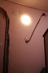 Rozas para instalación eléctrica de escalera y para acometidas eléctricas de viviendas #Gahecor