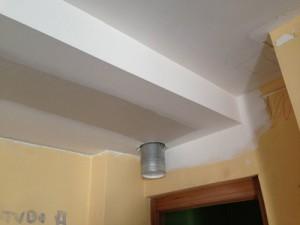 Tapado de instalación de ventilación de #zehnder con placas de #knauf