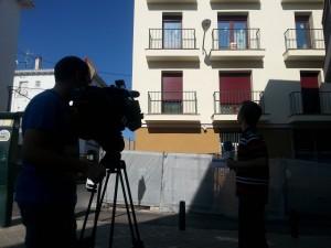 Rodaje en el Prei para el telediario de Telecinco