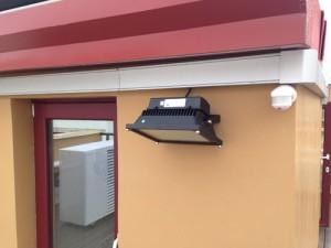 Iluminación en Leds de #Osram con detectores de #begluxomat canalizados con canaletas de #unex
