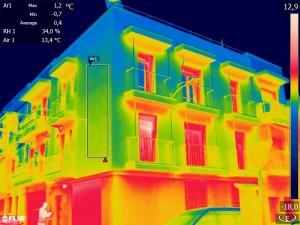 Termografía de edificio terminado y de suelo radiante #Ebuilding